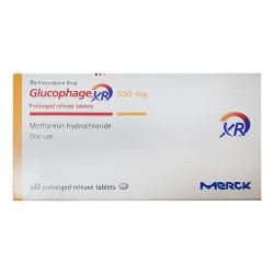Thuốc trị tiểu đường Glucophage XR 500mg, 60 viên