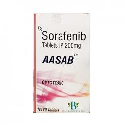 Thuốc trị ung thư AASB Sorafenib 200mg, Chai 120 viên
