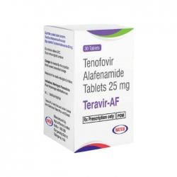 Thuốc trị viêm gan B Teravir AF 25mg, Hộp 30 viên