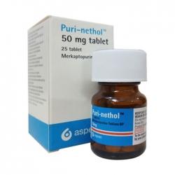 Thuốc ung thư Aspen Puri-nethol 50mg, Chai 25 viên