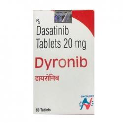 Thuốc ung thư Hetero Dyronib Dasatinib 20mg, Hộp 60 viên