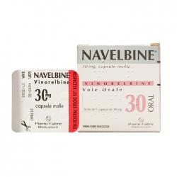 Thuốc ung thư Pierre Fabre NavelBine 30mg, Hộp 1 viên