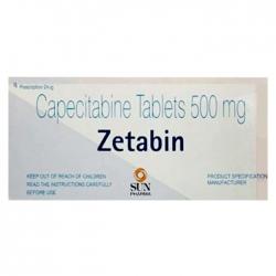Thuốc ung thư vú và đại tràng Zetabin Capecitabine 500mg Hộp 10 vỉ x 10 viên