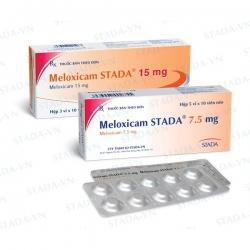 Thuốc tri thấp khớp Meloxicam 15mg Stada, Hộp 30 viên