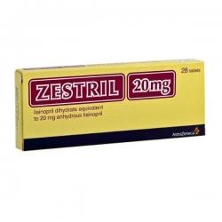 Thuốc Zestril 20mg, Hộp 28 Viên