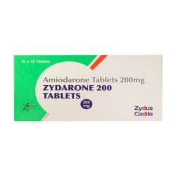 Thuốc Zydus Zydarone  Amiodarone 200mg, Hộp 100 viên