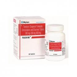 Thuốc Mylan Teevir 300mg/600mg/200mg, Hộp 30 viên