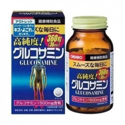 Tpbvsk bổ khớp Orihiro Glucosamine, Chai 360 viên