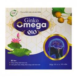 Tpbvsk bổ não Ginko Omega Q10, Hộp 100 viên ( Xanh )
