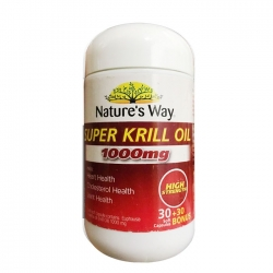 Tpbvsk dầu nhuyễn thể Nature's Way Super Krill Oil 1000mg, Chai 30 viên