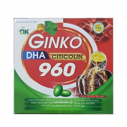 Tpbvsk DK Ginkgo DHA Citicolin 960 xanh đỏ