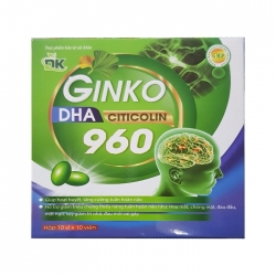 Tpbvsk DK Ginkgo DHA Citicolin 960 xanh lá