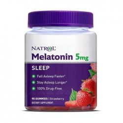 Tpbvsk giúp ngủ ngon Natrol Gummies Melatonin, Chai 90 viên