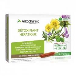 Tpbvsk thải độc gan Arkopharma Detoxifiant Hepatique Hộp 20 ống
