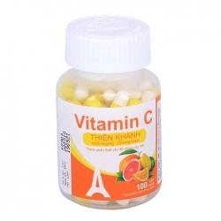 Tpbvsk Thiên Khánh Vitamin C 250mg, Chai 100 viên