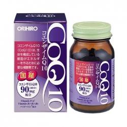 Tpbvsk tim mạch Orihiro CoQ10 90mg, Hộp 90 viên