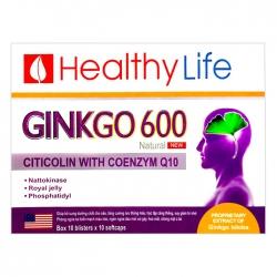 Tpbvsk tuần hoàn não Healthy Life Ginkgo 600 Natural, Hộp 100 viên