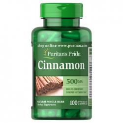 Tpbvsk Viên uống hỗ trợ tiểu đường Cinnamon 500 MG Puritan's Pride, Lọ 100 viên