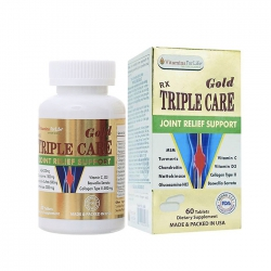 Tpbvsk xương khớp Triple Care Gold, Hộp 60 viên
