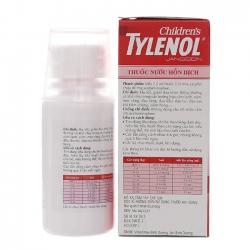 Thuốc nước giảm đau hạ sốt cho trẻ Tylenol Childrens 60ml