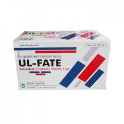 Viên nhai Synmedic UL FATE Sucralfate 1gr, Hộp 100 viên