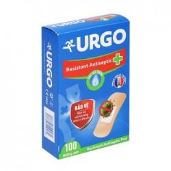 Urgo Resistant Antiseptic Pad 100 miếng – Băng cá nhân
