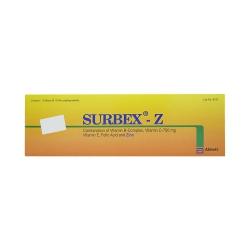 Viên bổ sung Vitamin Surbex - z Vitamin E/Vitamin C/Folic Acid, Hộp 10 vỉ x 10 viên
