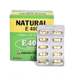 Viên nang mềm Vitamin E Robinson - Vitamin E 4000mcg, 10 vỉ x 10 viên