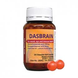 Viên nhai bổ não, tăng cường hệ miễn dịch Max Biocare Dasbrain® 30 viên