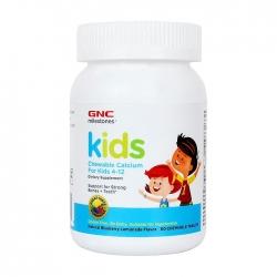 Viên nhai bổ xương cho trẻ GNC Kids Chewable Calcium For Kids 4-12 60 viên