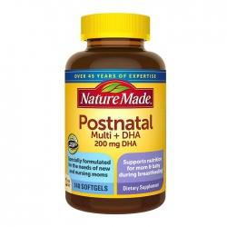 Viên uống bổ bầu sau sinh Nature Made Postnatal, Chai 140 viên