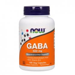 Viên uống bổ não, giảm stress Now Gaba 500mg, Chai 100 viên