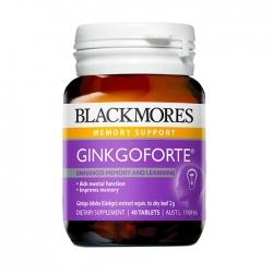 Viên uống bổ não hỗ trợ trí nhớ Blackmores Ginkgo Forte 2000mg 40 Viên