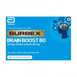 Tpbvsk bổ não Abbott Surbex Brain Boost  80mg, Hộp 20 viên