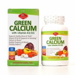 Viên uống bổ sung Canxi Olympian Labs Green Calcium Chai 100 viên