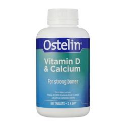 Viên uống bổ sung dưỡng chất Ostelin Vitamin D & Calcium 180 viên