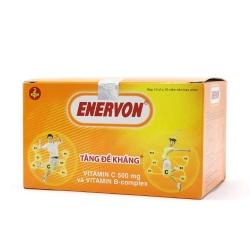 Viên uống bổ sung Enervon Vitamin C/Vitamin B1/Vitamin B2, Hộp 10 vỉ x 10 viên