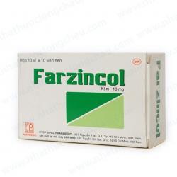 Viên uống bổ sung kẽm Farzincol - ZinC 10mg, Hộp 10 vỉ x 10 viên