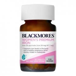 Viên uống bổ sung sắt cho bà bầu Blackmores Women's Premium Iron 30 viên