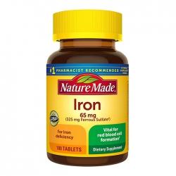 Viên uống bổ sung sắt Nature Made Iron 180 viên