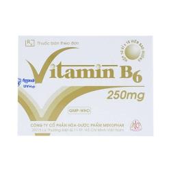 Viên uống bổ sung Vitamin B6 - Pyridoxine HCL 250mg, Hộp 10 vỉ x 10 viên