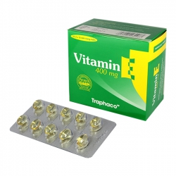 Viên uống bổ sung VITAMIN E Traphaco | Hộp 100 viên
