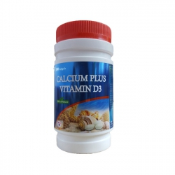 Mediphar USA Calcium Plus Vitamin D3, Chai 100 viên