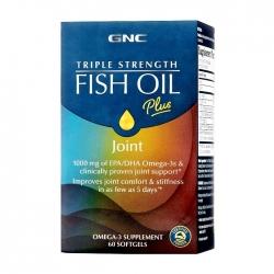 Viên uống dầu cá bổ tim mạch GNC Triple Strength Fish Oil Plus 60 viên