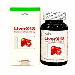 Viên uống giải độc gan LiverX18, Chai 90 viên