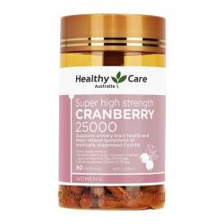 Viên uống Healthy Care Cranberry 25000mg, Chai 90 viên