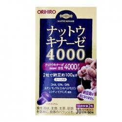 Viên uống hỗ trợ điều trị đột quỵ Orihiro 4000 FU, 60 viên