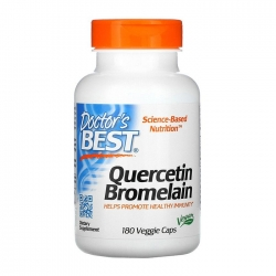 Viên uống ngừa gút Doctor's Best Quercetin Bromelain 180 viên