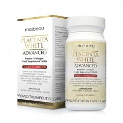 Viên uống trắng da trị nám Mosbeau Placenta White Advanced 650mg, Hộp 120 Viên