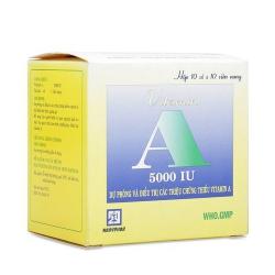 Vitamin A 5000IU Nadyphar, Chai 80 viên